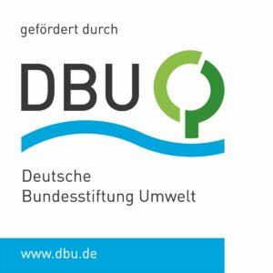 Unser Foto zeigt das Logo des Projektförderers Deutsche Bundesstiftung für Umwelt (DBU)