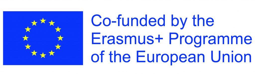 Unser Foto zeigt das Logo der EU mit dem Hinweis: Co-funded by the Erasmus+ Programme of the European Union