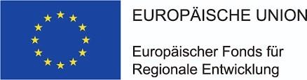 Unser Foto zeigt den Projektträger mit seiner Flagge. Die Europäische Union - Europäischer Fonds für Regionale Entwicklung